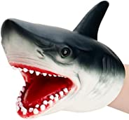 nicknack Shark Puppet Role Play Toy Kids Realistic Soft Rubber Shark Hand Puppet for Boys Girls Kids