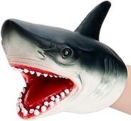 nicknack Shark Puppet Role Play Toy Kids Realistic Soft Rubber Shark Hand Puppet for Boys Girls Kids