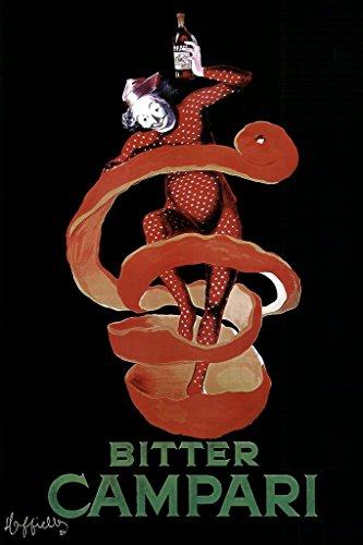 - Leonetto Cappiello Bitter Campari Vintage Alcoholic Liqueur Advertising Art Print Poster 24x36 inch