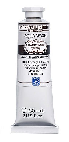 Charbonnel Aqua Wash Etching Ink - Black 55981 60ml Tube by Charbonnel