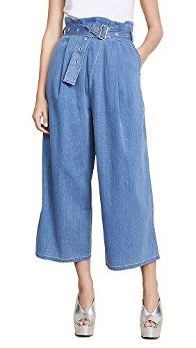 J Brand Women's Via Pleat Front Pants, Heavenly Blue, 30