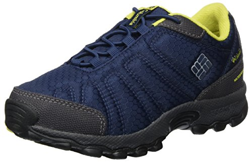 Columbia Boys' YOUTH FIRECAMP Sledder II WP Low Rise Hiking Shoes, Blue...