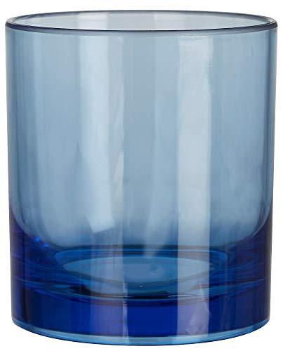 Coastal Home 12 oz. Acrylic Double Old Fashioned Glass One Size Blue ()