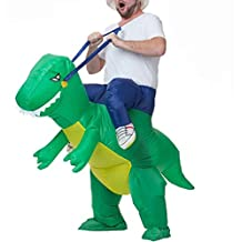 FSMY Inflatable Adult T-REX Dinosaur Halloween Costume Fancy Party Dress Props