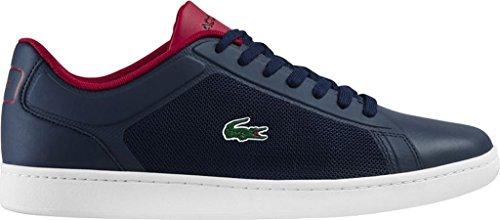 Lacoste Mens Endliner 117 1 Sneaker Marine / Rouge Textile / Synthétique