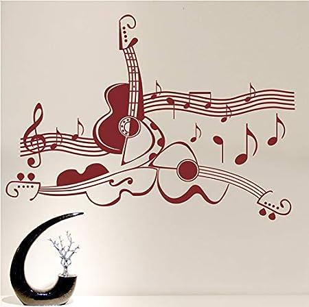 jemdshen Classic Musical Instrumento De Guitarra Vinilo Tatuajes ...