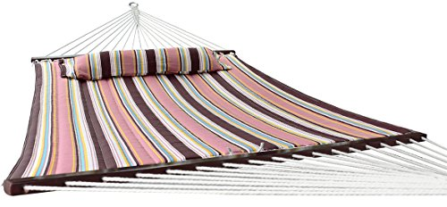 Sorbus Hammock with Spreader Bar, Detachable Pillow, Heavy Duty, 450 Pound Capacity, Perfect for Indoor/Outdoor Patio, Deck, Yard (Hammock Only, Mocha) by Sorbus