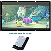 Jambar Eyelet Projector Screen Size ( 6 X 4 ) Foldable