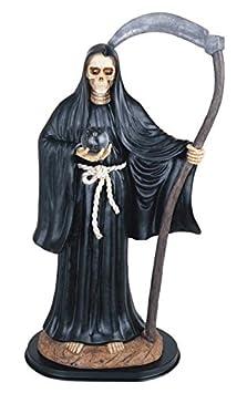StealStreet SS-G-324.58 Black Santa Muerte Saint Death Grim Reaper Statue Figurine, 24
