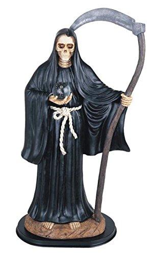 StealStreet SS-G-324.58 Black Santa Muerte Saint Death Grim Reaper Statue Figurine, 24'' by StealStreet