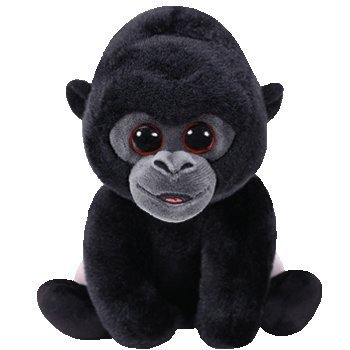 """Price comparison product image Ty Beanie Babies BO - Silver Back Gorilla reg 6"""" Regular (free gift with purchase)"""