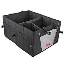 Trunk Organizer, EZOWare Cargo Trunk Collapsable Storage Container for Minivan, Vans, Cars, SUV Rear or Backseat - Black
