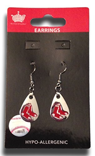 - MLB Boston Red Sox Tear Drop Dangler Earrings