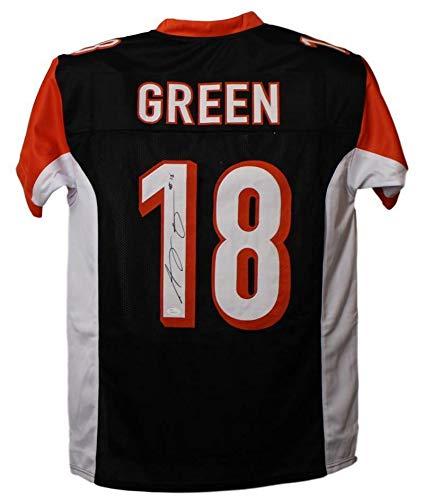 AJ Green Autographed/Signed Cincinnati Bengals XL Black Jersey JSA Cincinnati Bengals Autographed Jerseys