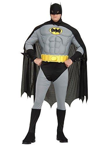 Batman 52 Costume (Batman Muscle Chest Fancy Dress Costume XXL upto 52 Chest by Rubies)