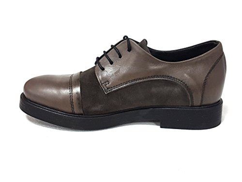 de marr de Lili cordones Piel Zapatos para Mill mujer p8cqwISR