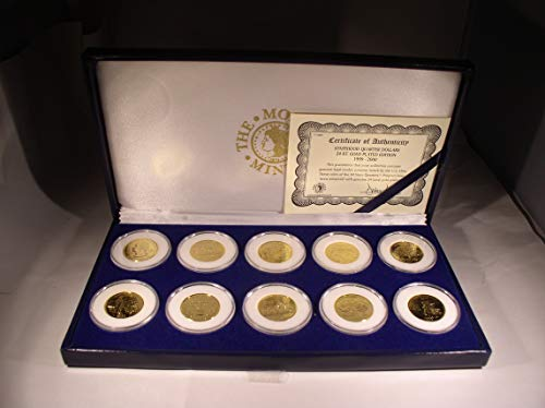 Thirty 24k Gold Plated Statehood Quarters ()