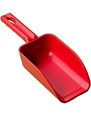Vikan Remco 63004 Color-Coded Plastic Hand Scoop - BPA-Free Food-Safe Kitchen Utensils, Restaurant and Food Service Supplies, 16 oz, Red