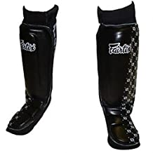 "FAIRTEX ""NEOPRENE"" MMA SHIN GUARDS - SP6 - BLACK (MMA, MUAY THAI, K1, UFC) (LARGE)"