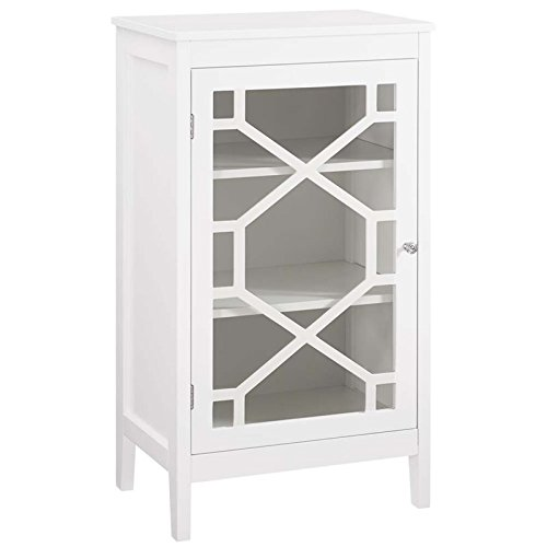 Riverbay Furniture 20'' Curio Cabinet in White by Riverbay Furniture