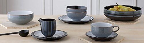 Denby Jet Tea Plate - Grey and Black, Set of 2
