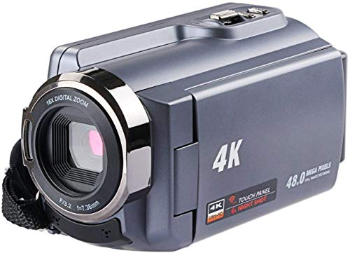 Camera Camcorders, Ultra HD (48 Mega Pixels) 4K 2160P 16X Digital Zoom Night Vision Video Camera with WiFi and Digital Video Camcorder and 3.0