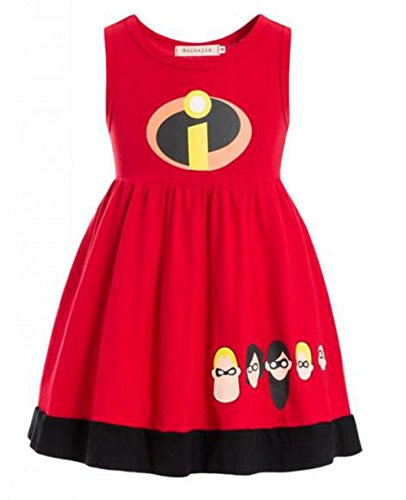 Ruikajia The Incredibles 2 Dress up (red, (Halloween Costumes The Incredibles Baby)
