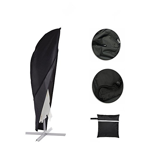 Patio Umbrella Covers With Zipper: Parasol Cover, Patio Offset Umbrella Cover With Zipper