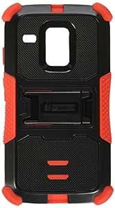 Beyond Cell Tri-Shield Durable Hybrid Hard Shell & Silicone Gel Case for Motorola Moto G XT1032 - Black/Red -White/Light Blue