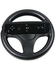 OSTENT Mario Kart Racing Games Steering Wheel Compatible for Nintendo Wii Remote Controller Color Black