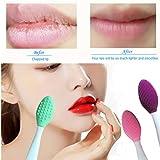 3 PCS Lip Scrub Brush, Double-Sided Silicone