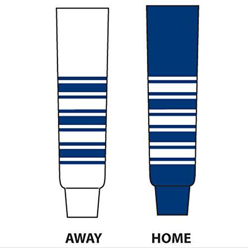 - DoGree Hockey Toronto Knit Hockey Socks, 24-Inch, White/Blue