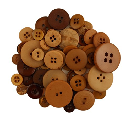 Buttons Galore CB111 Color Blend Buttons, 3-Ounce, Latte, 3 Shades of (Latte Shade)