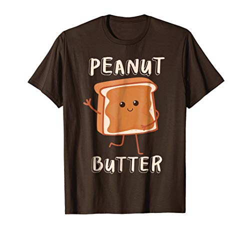 Mens Peanut Butter Matching Couples Halloween T-Shirts 2017 Large Brown