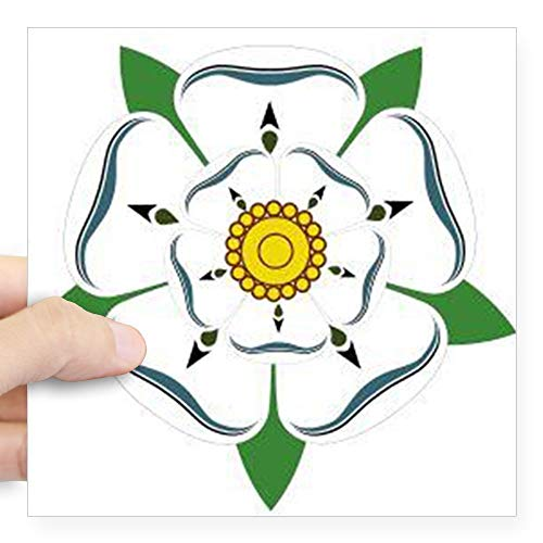 CafePress Yorkshire Rose Sticker Square Bumper Sticker Car Decal, 3