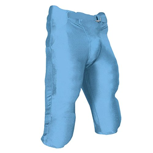 Pants Game Light Football - Integrated Football Game Pant With Built-In Pads - Xs - Light Blue - Youth