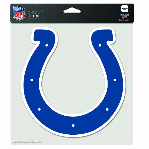 Nfl Indianapolis Colts Decal - NFL Indianapolis Colts 8-by-8 Inch Diecut Colored Decal
