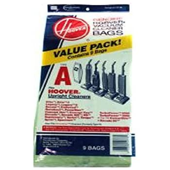 Hoover Type A Upright Value Pack Paper Bags 9 PK Genuine OEM # 4010221A