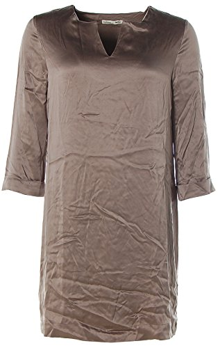 Becker 4 Arm Barbara Taupe Etuikleid V Dress 3 Kleid Damen Seide Ausschnitt tfwwpx