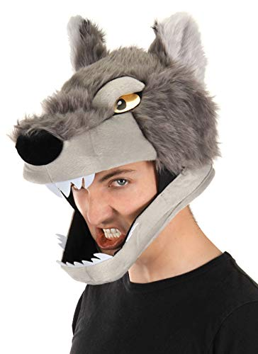 elope Wolf Costume Jawesome Hat for Adults and Kids]()