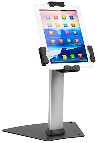 Electronic Mini Surface Mount - Mount-It! Secure Universal Tablet Kiosk POS - Locking Tablet POS Counter-top Stand Adjustable Clamp for iPad, iPad Mini, Samsung Galaxy Tab, Surface Go and 7.9