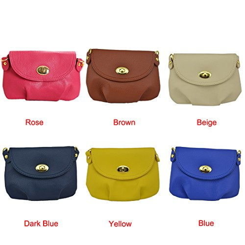 Vintage Leather Handbag Womens Crossbody Messenger Cute Darkblue Bag Voberry Satchel Mini Eq785Sw5