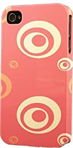 Coral Circle Pattern Dimensional Case Fits Apple iPhone 5 or iPhone 5s