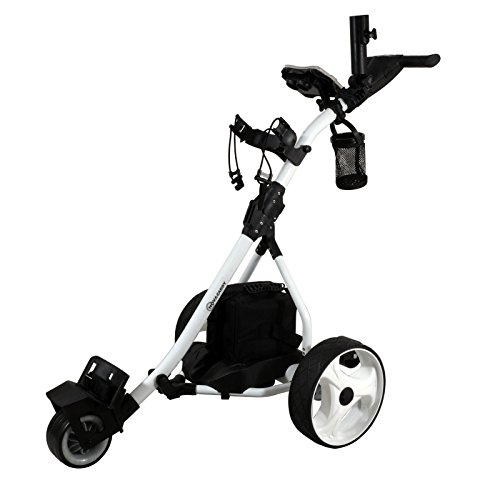 - NovaCaddy Remote Control Electric Golf Trolley Cart, White, Lead Acid Battery