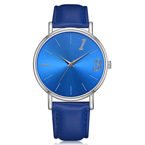 Alixyz Women's Minimalist Wrist Watch Analog with Milanese Fashion Classic Round Analog Watch (Blue, M)