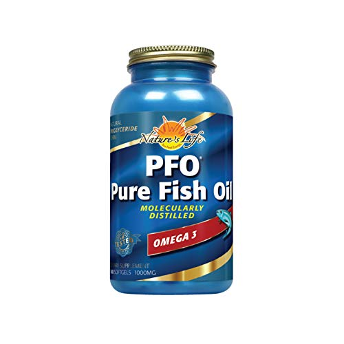 - Nature's Life Pure Fish Oil, Fish Softgel, Orange (Btl-Plastic) 1000mg 180ct