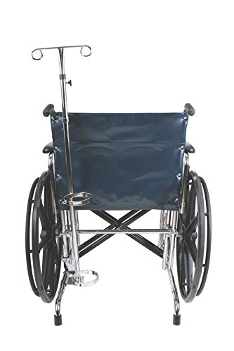 Medline MDS85190 Wheelchair Combo Oxygen Tank Holder and IV ()