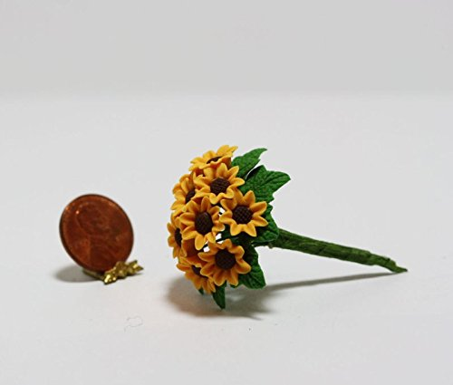 Delight Bouquet (Dollhouse Miniature 1:12 Bouquet of Twelve Sunflowers by Bright deLights)