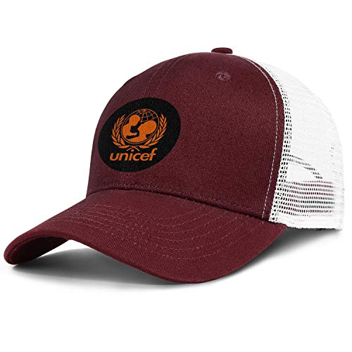 (ZWZHI UNICEF Men Women Novelty Mesh Ball Cap Snapback Adjustable Golf)