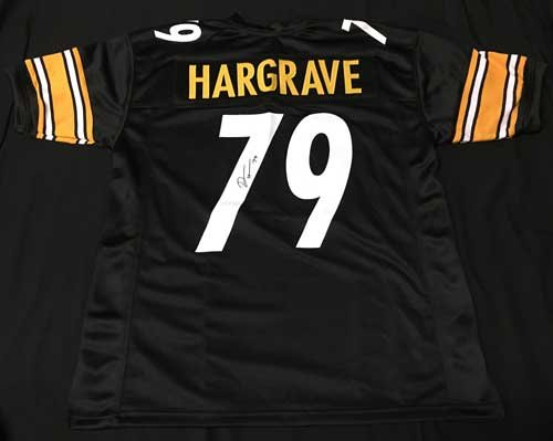 Javon-Hargrave-Autographed-Black-Pittsburgh-Steelers-Custom-Jersey